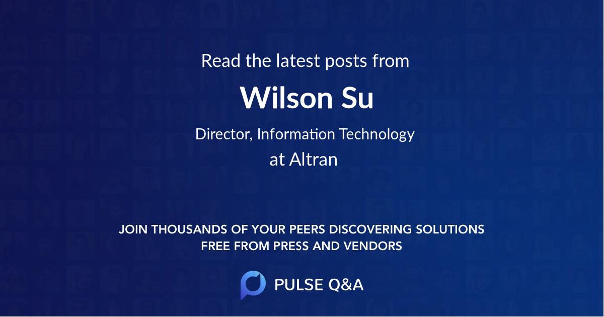 Wilson Su