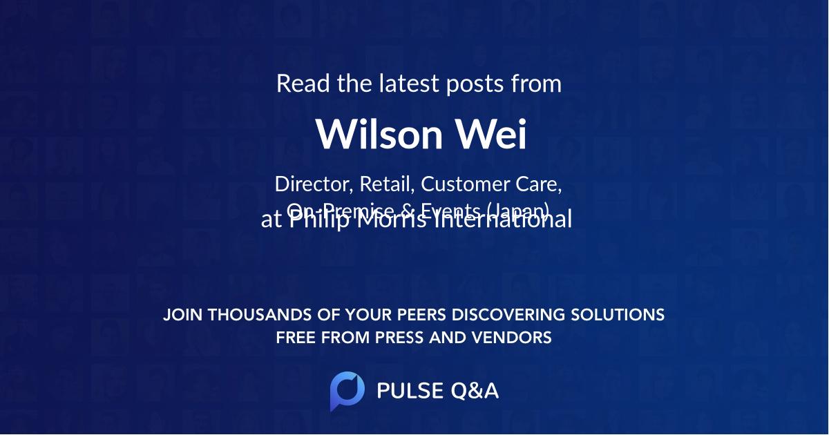 Wilson Wei