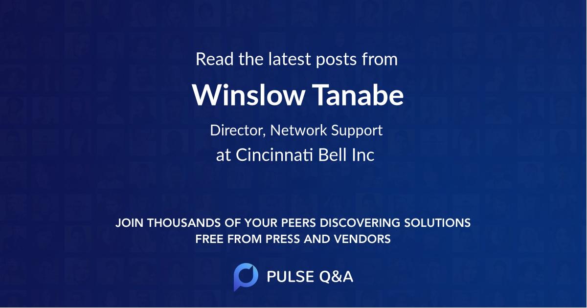 Winslow Tanabe