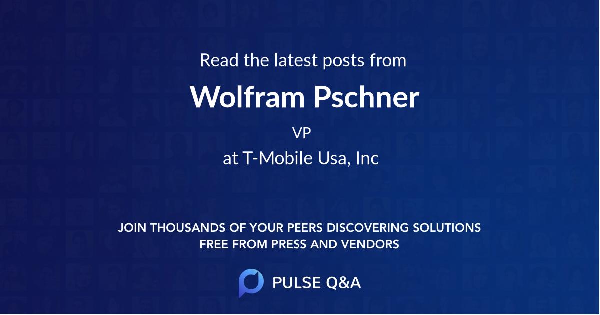 Wolfram Pschner