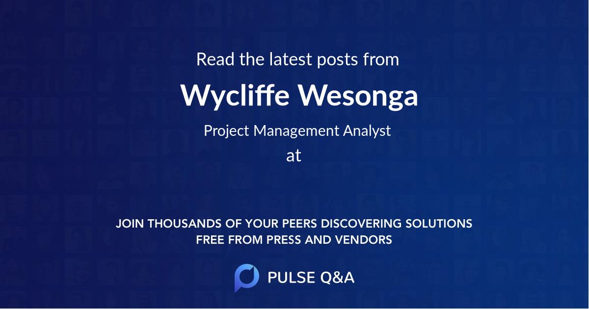 Wycliffe Wesonga