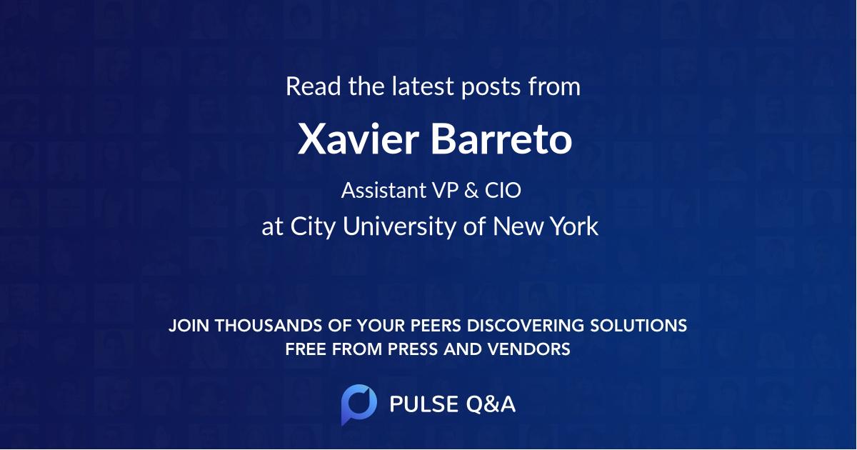 Xavier Barreto