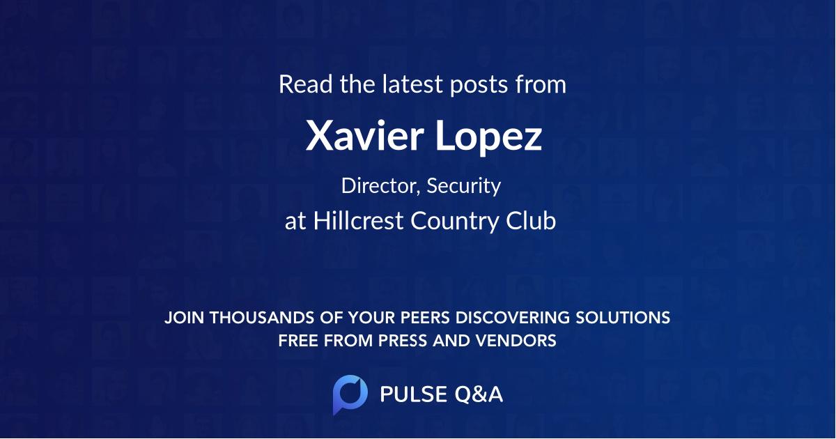 Xavier Lopez