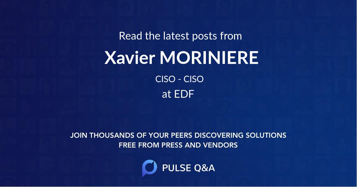 Xavier MORINIERE