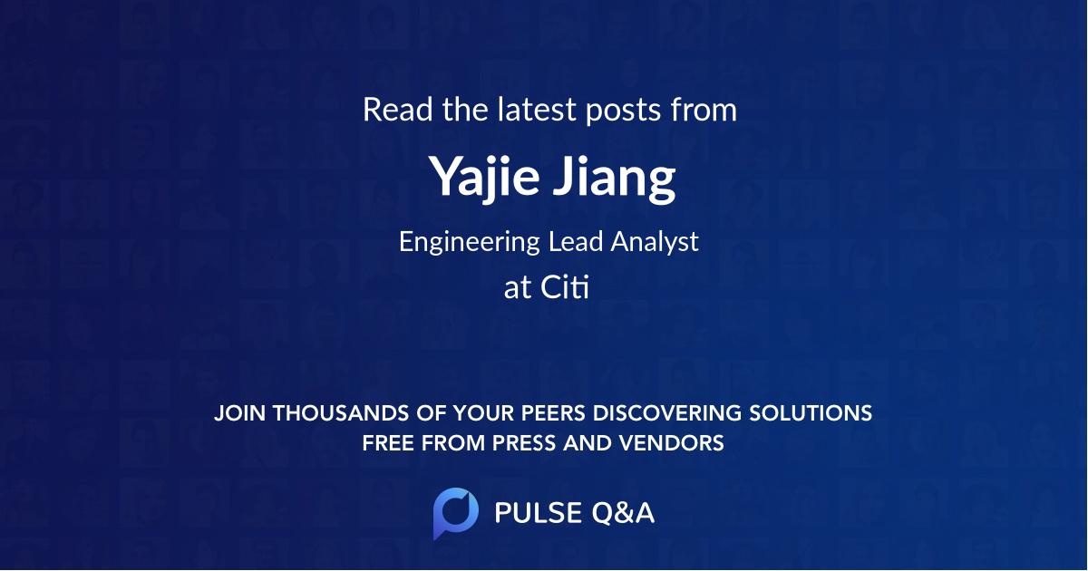 Yajie Jiang