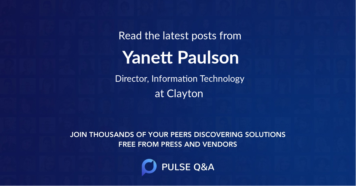 Yanett Paulson