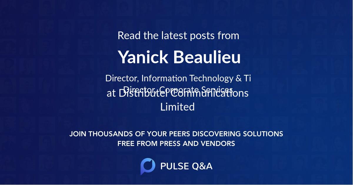 Yanick Beaulieu