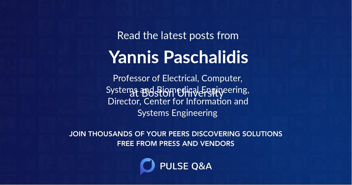 Yannis Paschalidis