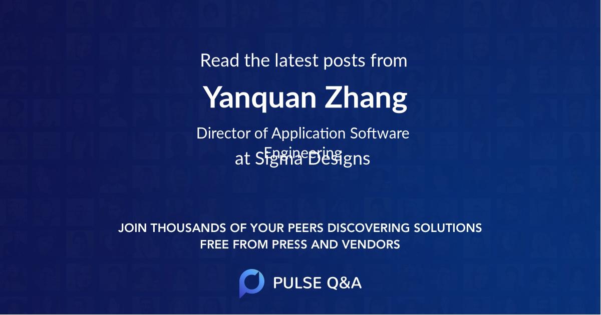 Yanquan Zhang