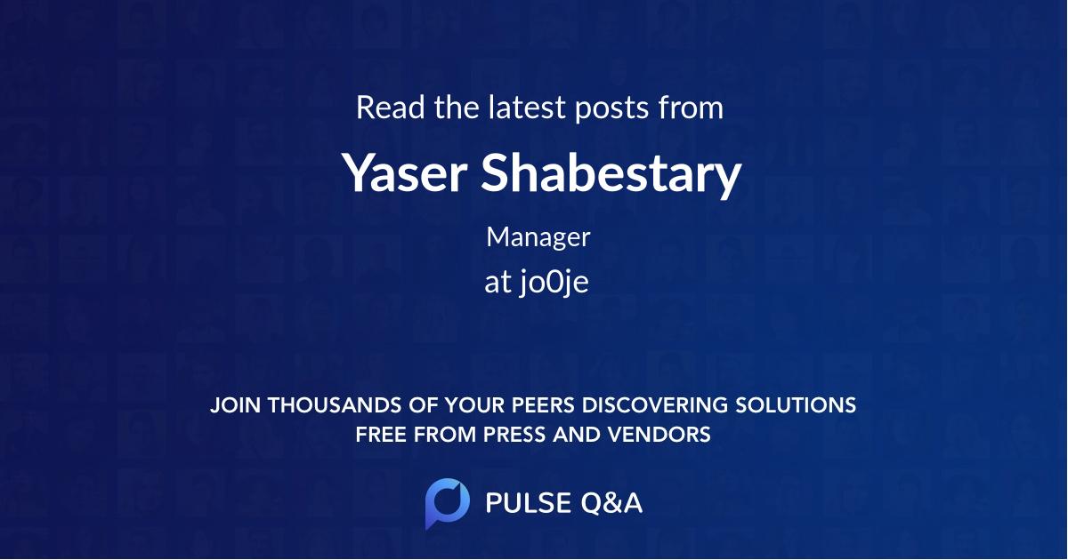 Yaser Shabestary