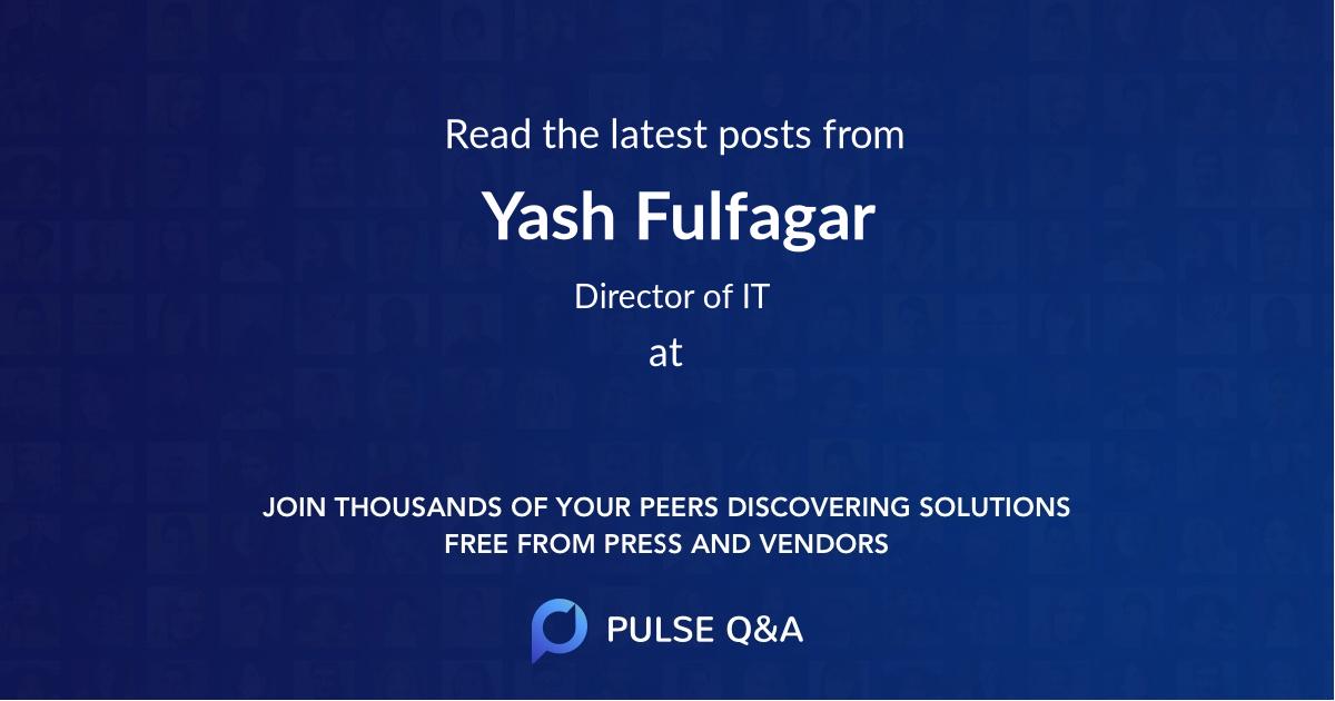 Yash Fulfagar