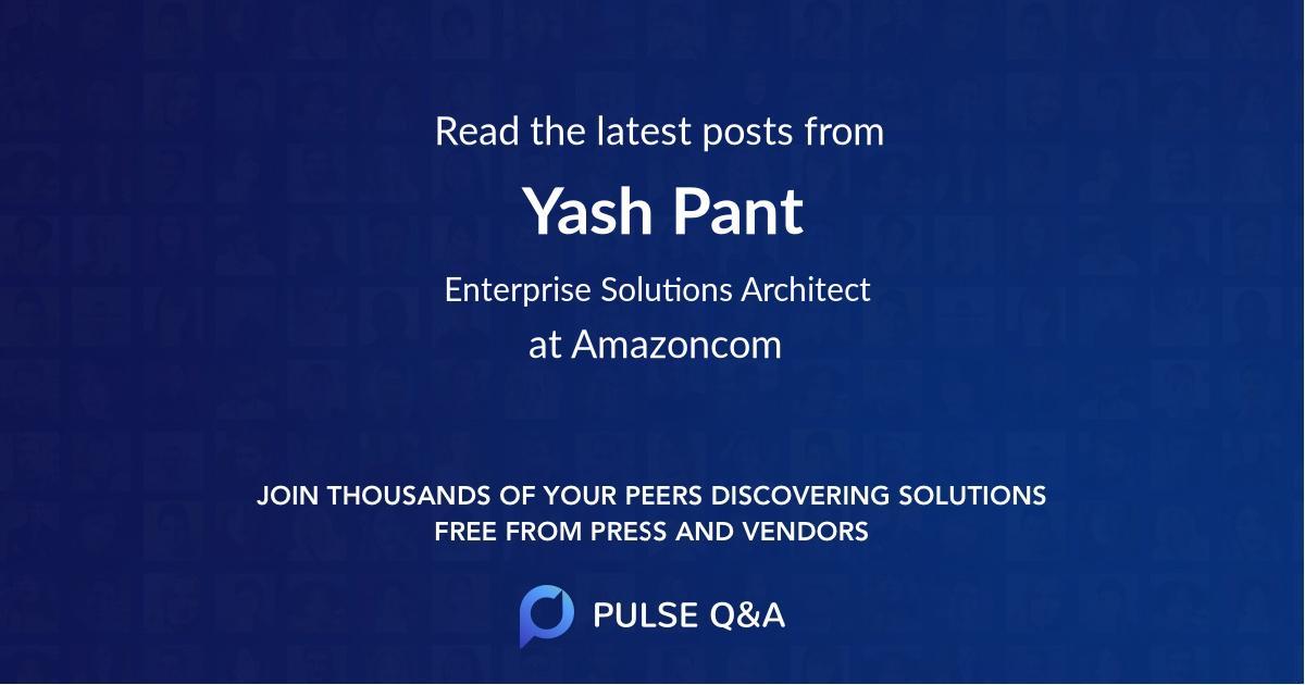 Yash Pant