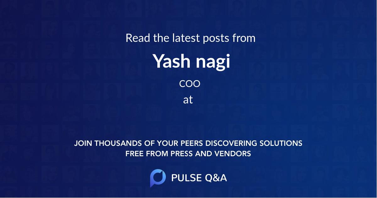 Yash nagi