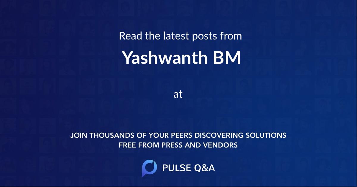 Yashwanth BM