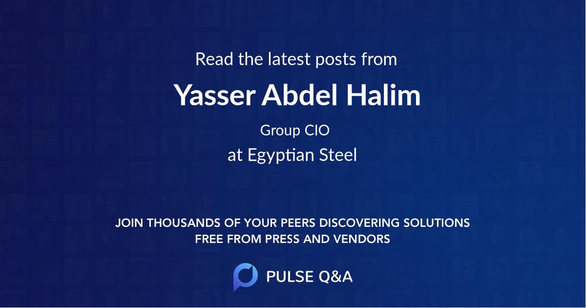 Yasser Abdel Halim
