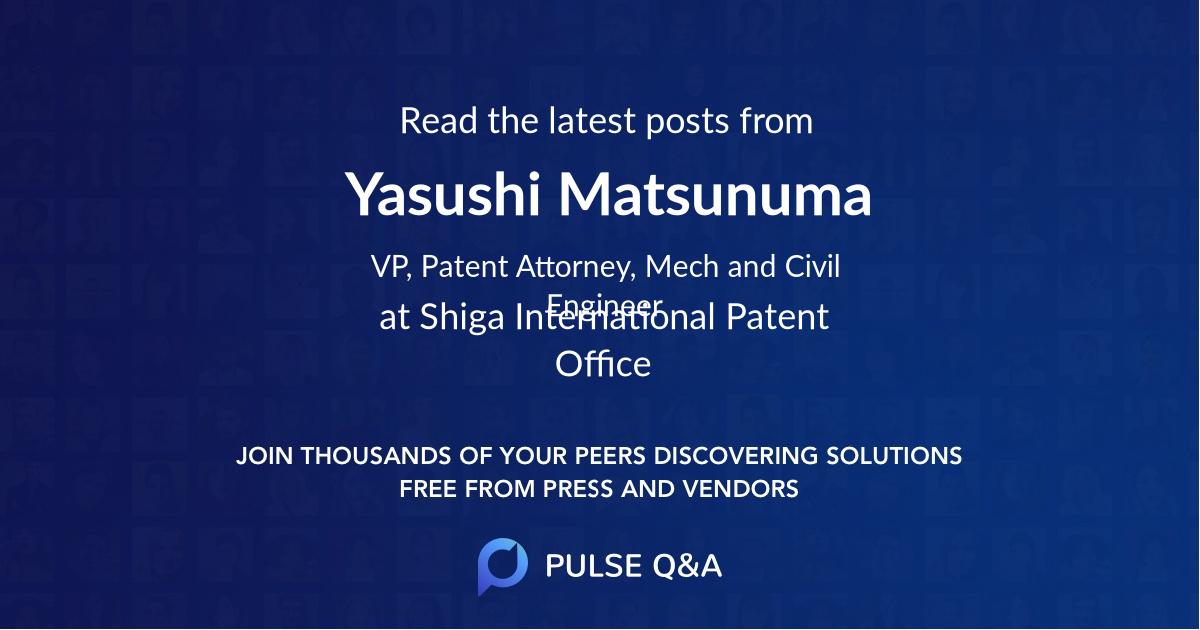 Yasushi Matsunuma