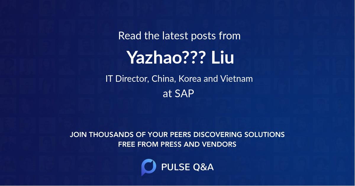 Yazhao??? Liu