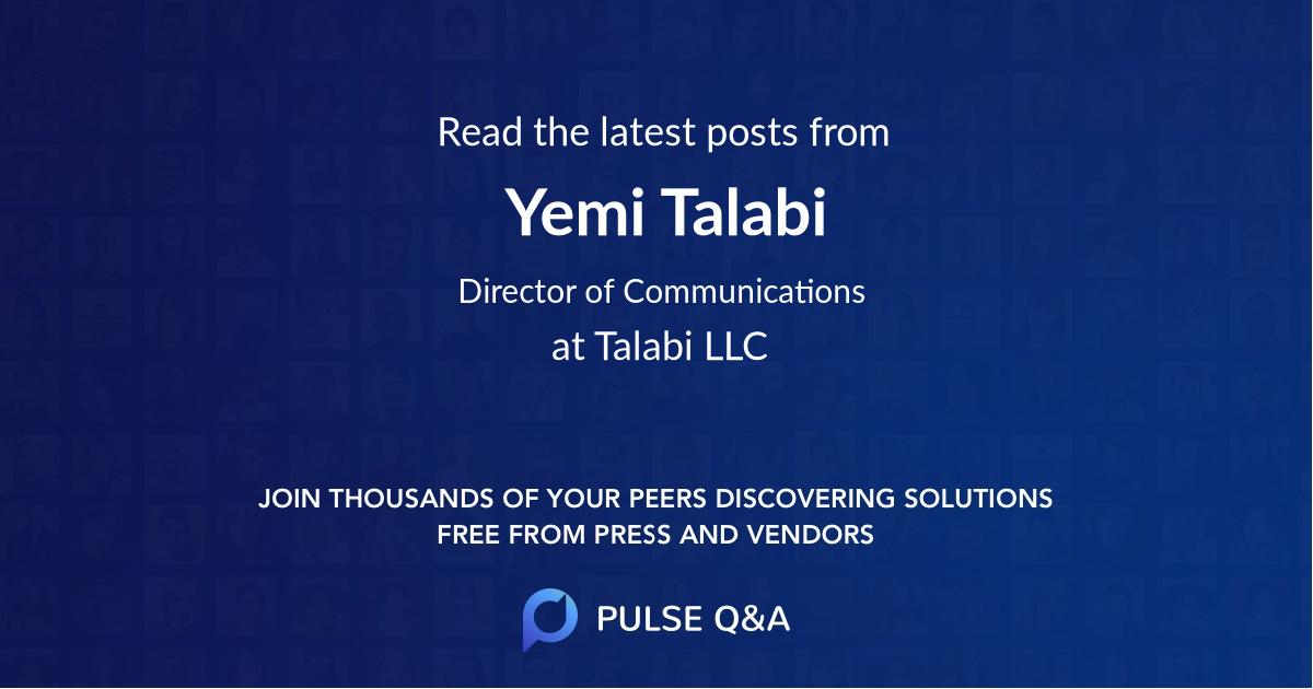 Yemi Talabi