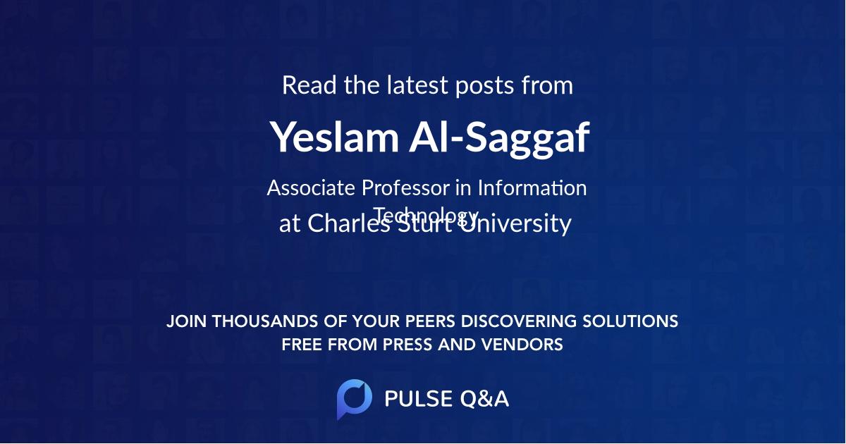 Yeslam Al-Saggaf