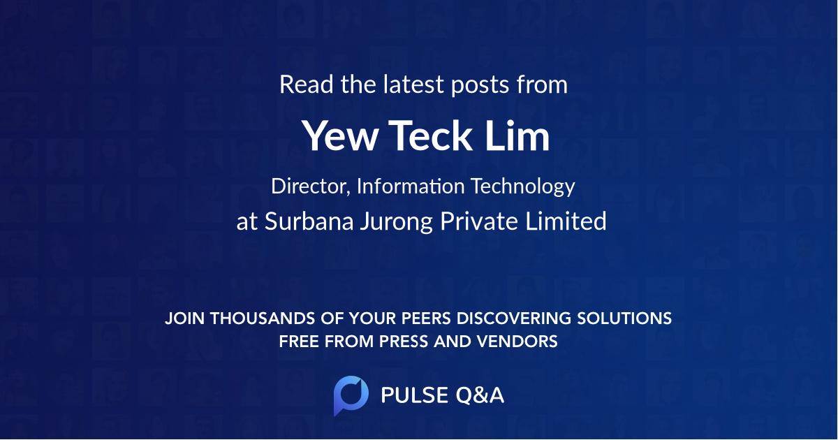 Yew Teck Lim