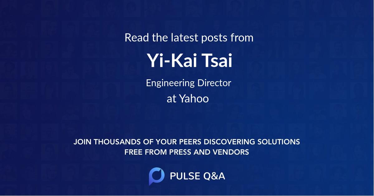 Yi-Kai Tsai
