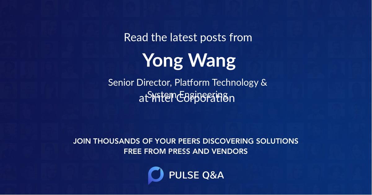 Yong Wang