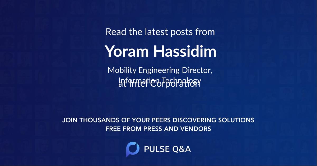 Yoram Hassidim