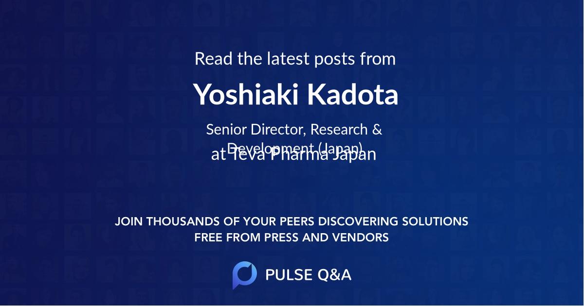 Yoshiaki Kadota