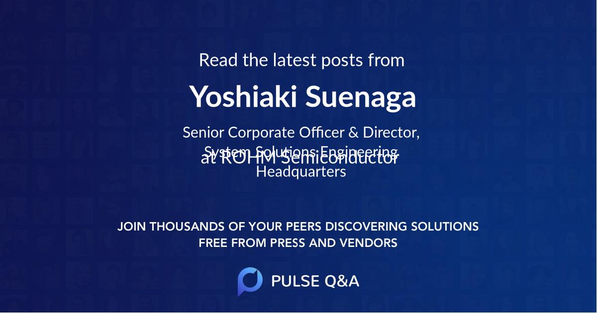 Yoshiaki Suenaga