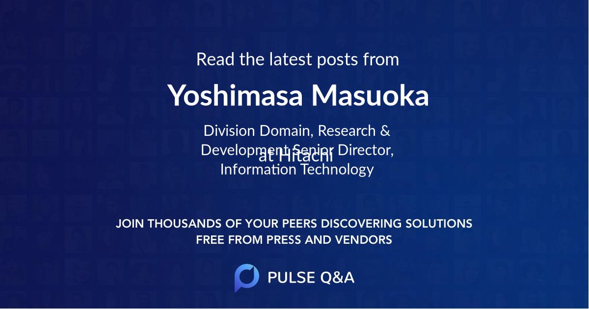 Yoshimasa Masuoka