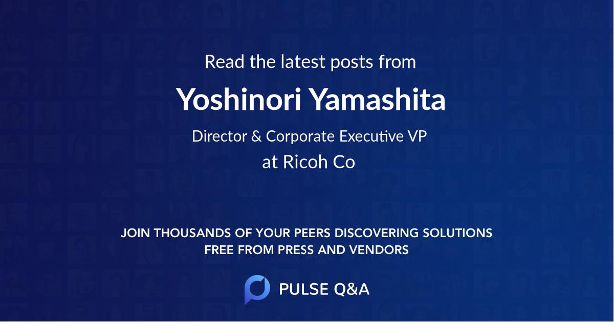 Yoshinori Yamashita