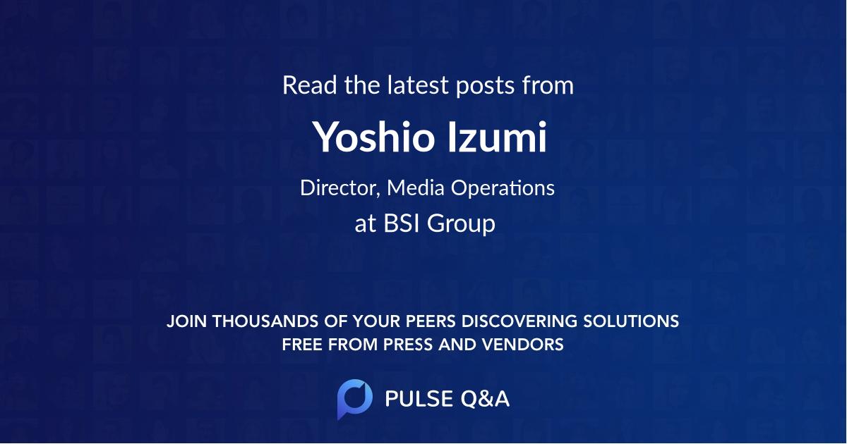 Yoshio Izumi