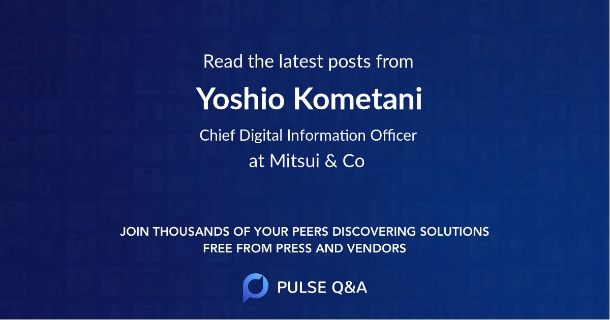 Yoshio Kometani