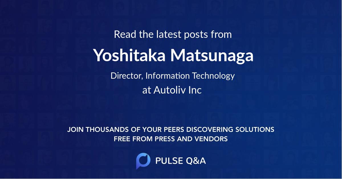 Yoshitaka Matsunaga