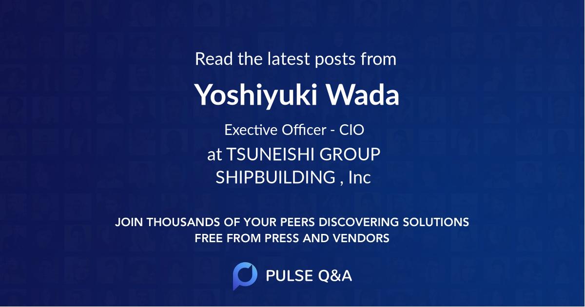 Yoshiyuki Wada