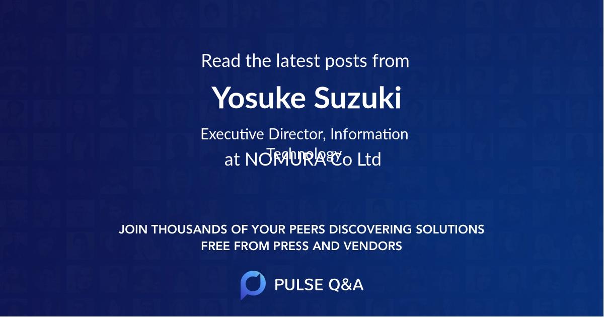 Yosuke Suzuki