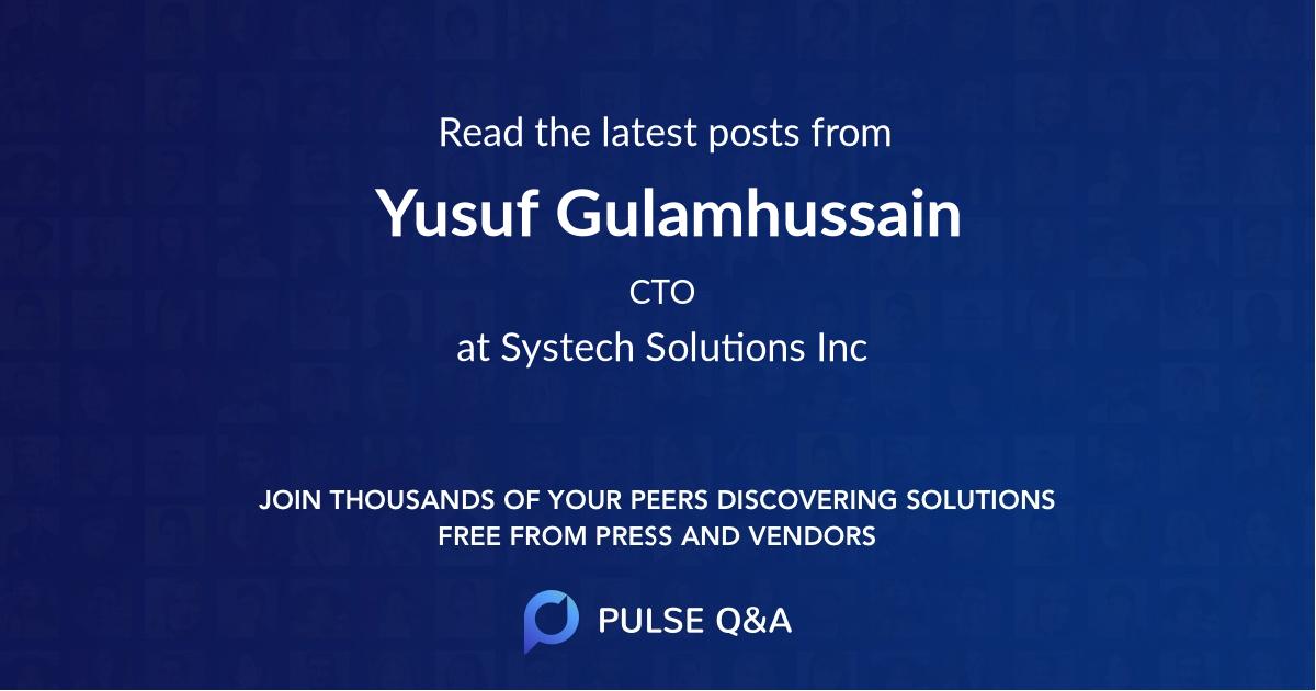 Yusuf Gulamhussain