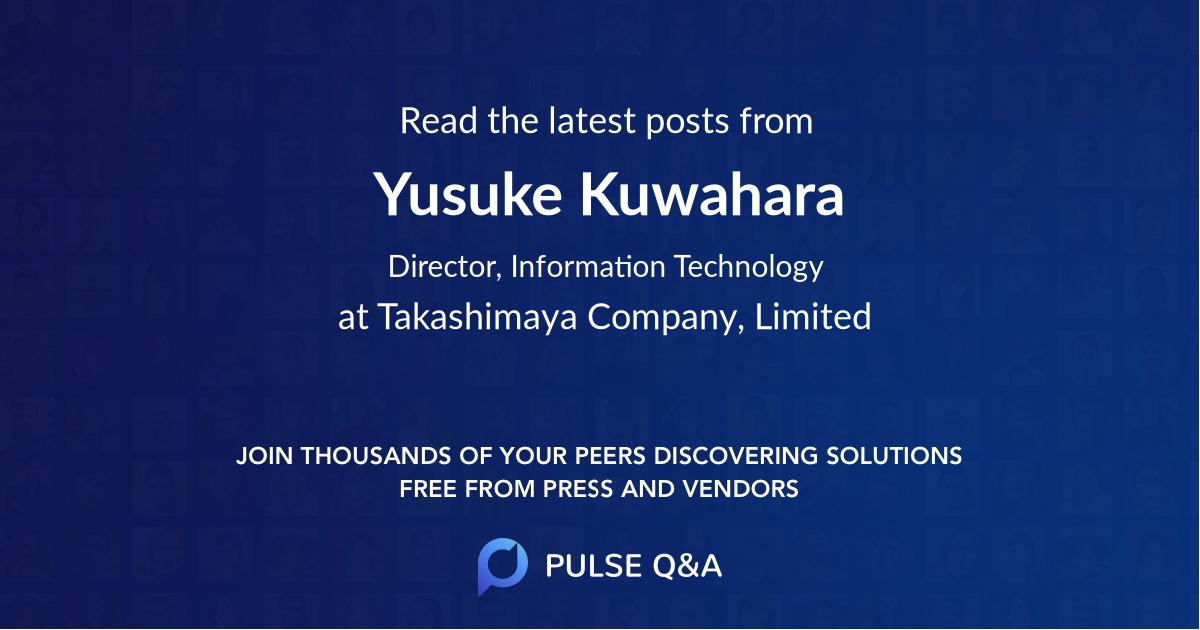 Yusuke Kuwahara
