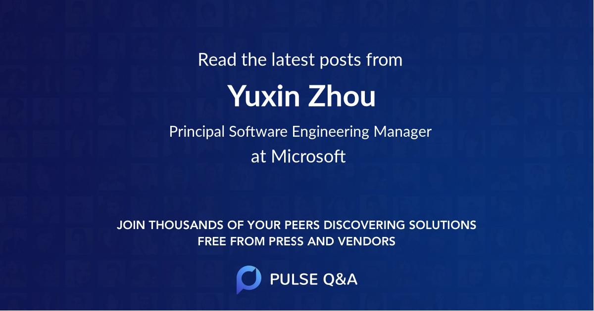 Yuxin Zhou