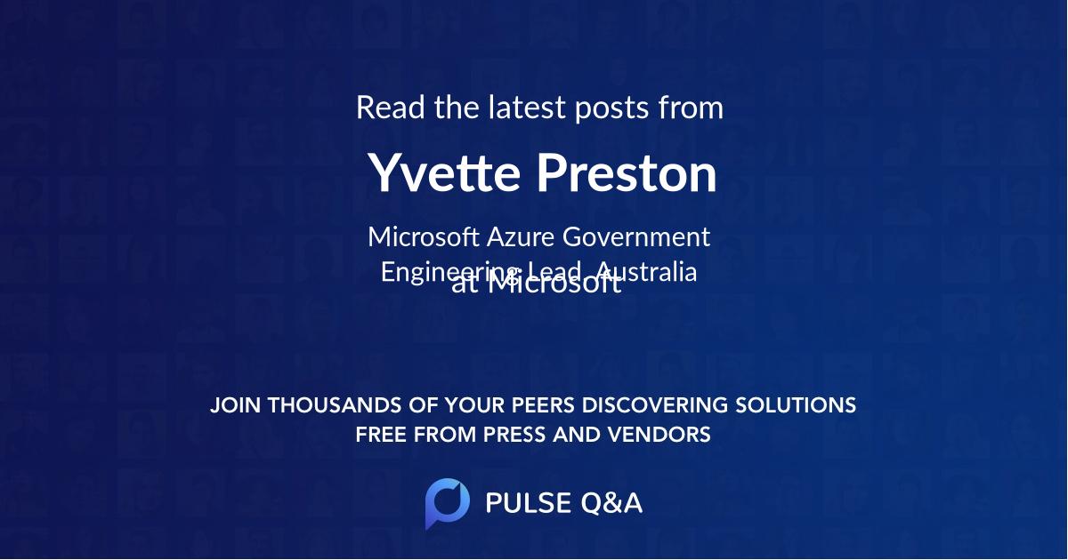Yvette Preston