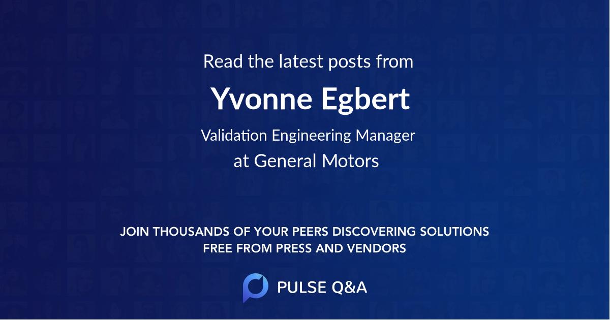 Yvonne Egbert