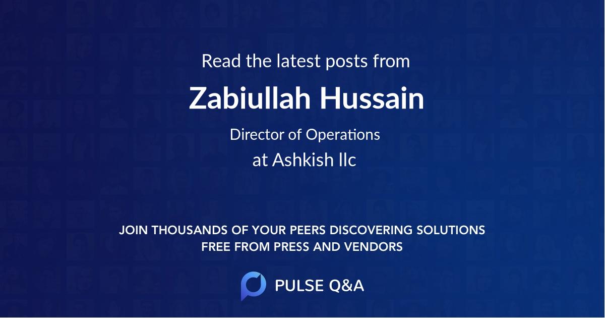 Zabiullah Hussain