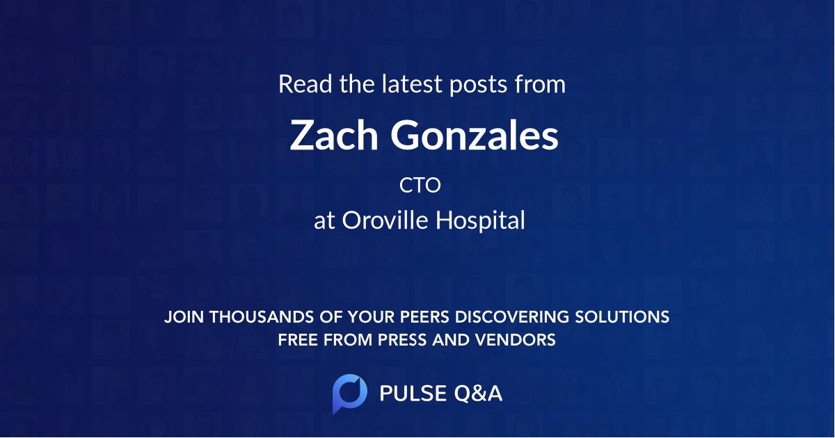 Zach Gonzales