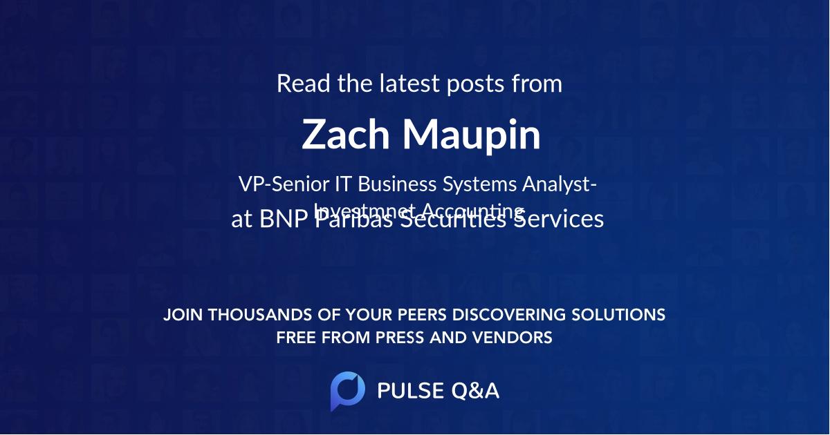 Zach Maupin