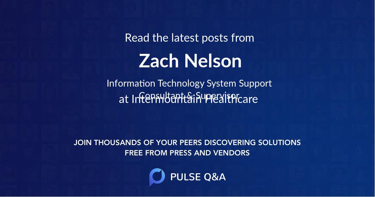 Zach Nelson