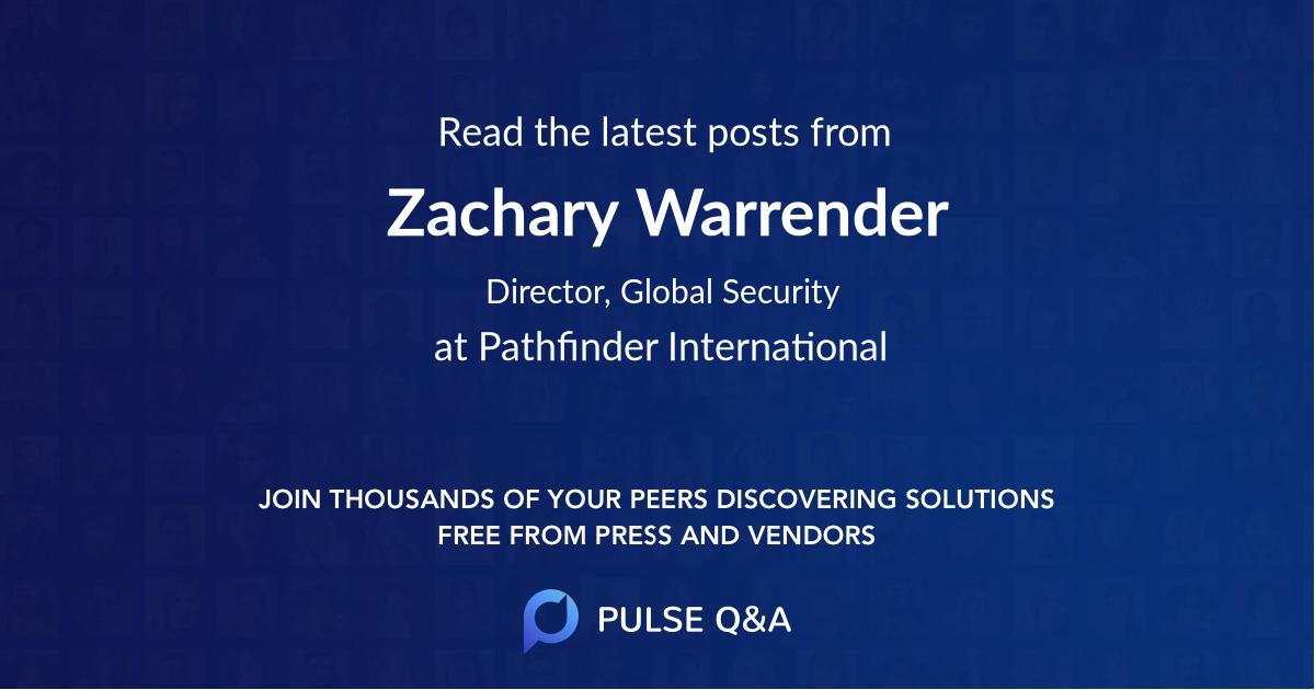 Zachary Warrender