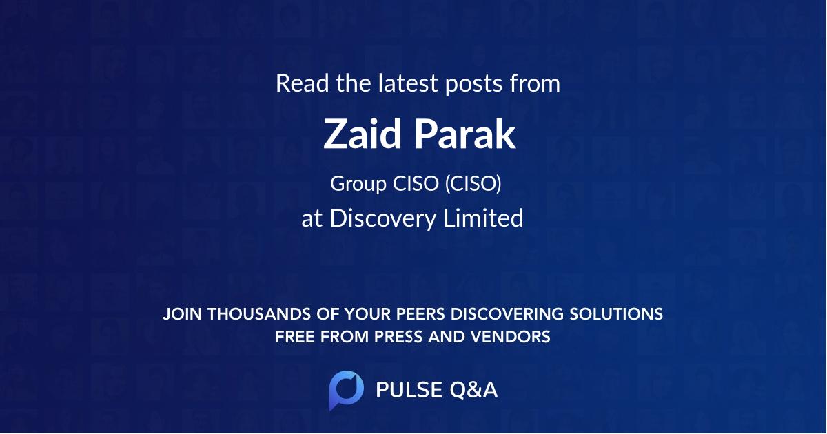 Zaid Parak