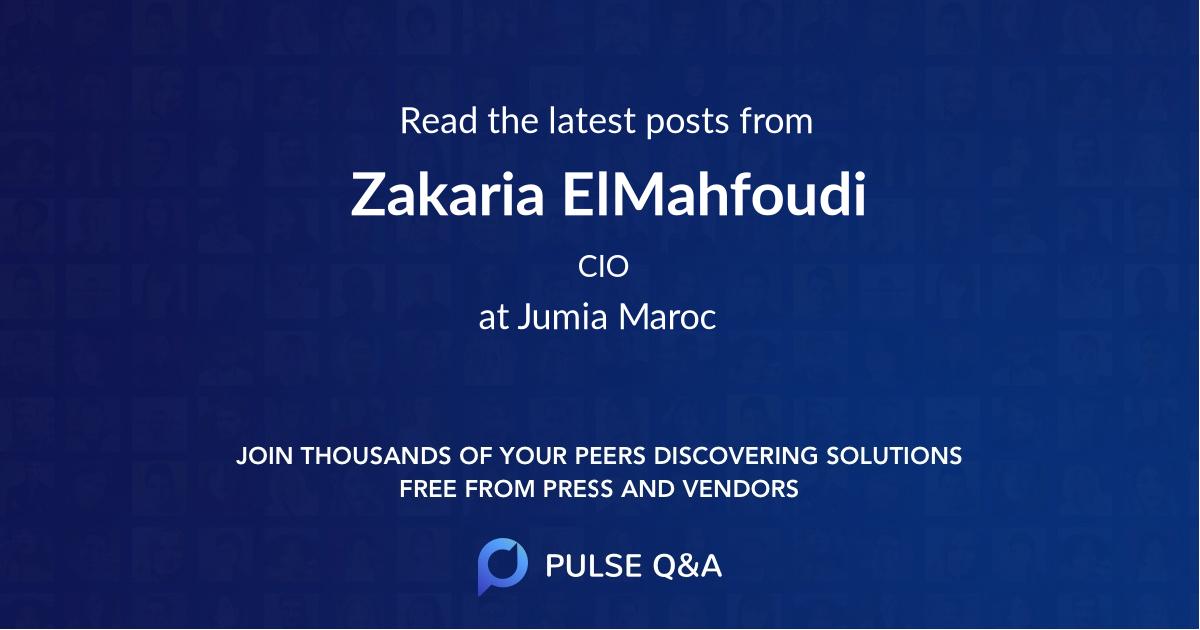 Zakaria ElMahfoudi
