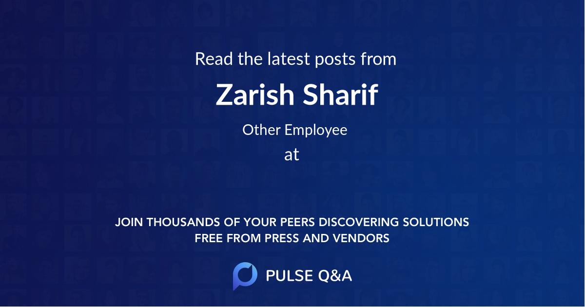 Zarish Sharif