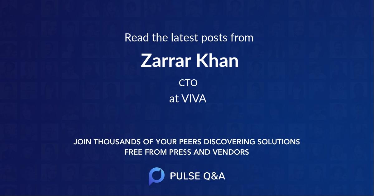 Zarrar Khan
